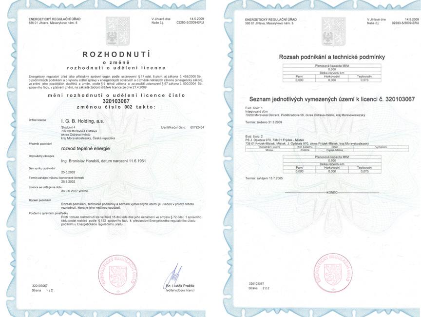 Energetický regulační úřad - Licence